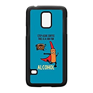 Step Aside Coffee Black Hard Plastic Case Snap-On Protective Back Cover for Samsung? Galaxy S5 Mini by Chargrilled + FREE Crystal Clear Screen Protector