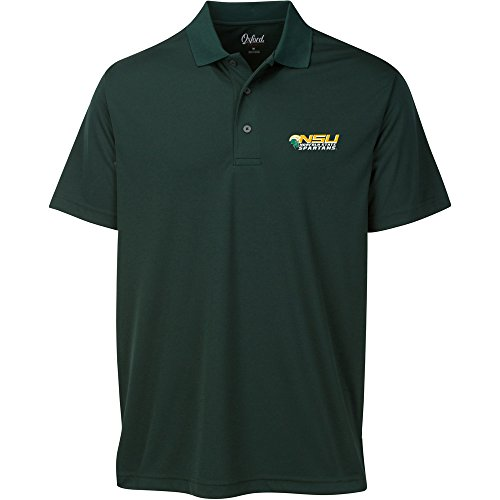 Norfolk State Spartans Green - Oxford NCAA Norfolk State Spartans Adult Men Burke Short Sleeve Solid Polo, Large, Hunter