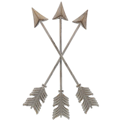 "Barnyard Designs Metal Arrow Wall Decor, Rustic Native American Wall Art Arrows 13"" x 8.25"""