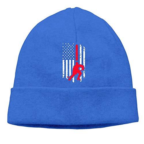 BBlooobow Unisex Hockey American Flag-1 Soft Skull Cap