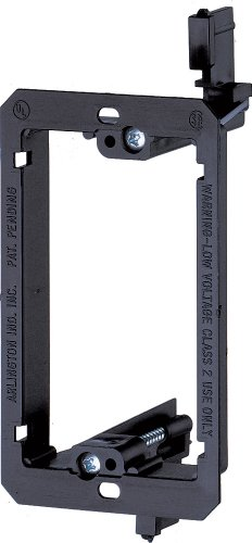 Arlington LV1-1CS Single Gang Low Voltage Mounting Bracket (Single Gang Outlet Box)