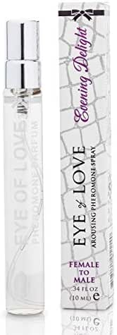 Eye Of Love - Evening Delight Pheromone Parfum for Women to Attract Men - Highest Concentration Perfume Spray with Spicy Scent - Travel Size - 10ml