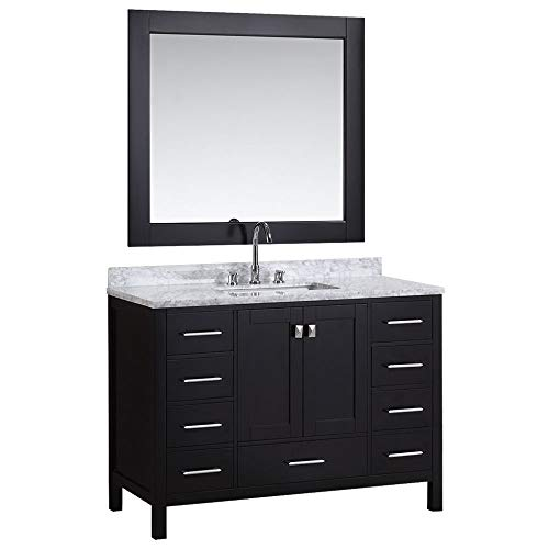 Espresso Finish Vanity - Luca Kitchen & Bath LC48AEW Reno 48