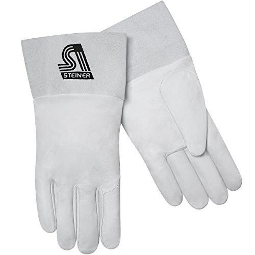 Unlined Premier Gloves - Steiner 0229-XS TIG Gloves, Grain Goatskin Unlined 3-Inch Cuff, Extra Small