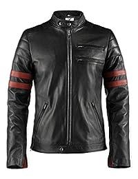 Trendz&ideas Fight Club Brad Pitt Leather Jacket for Men