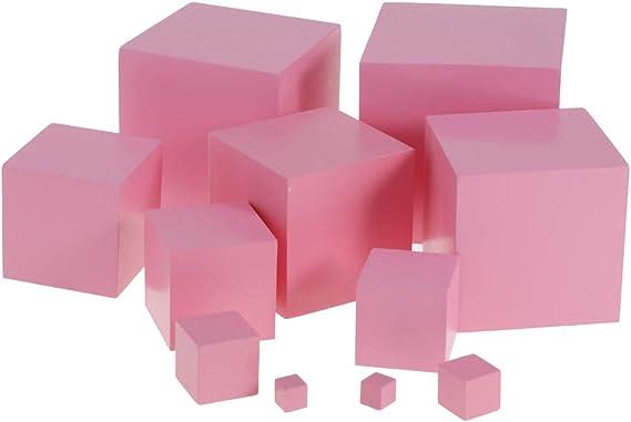 Dolity Material de Montessori: Torre de Madera Rosa con Bolas Escaleras y Bloques de Cilindro, Juguete Educativo de Nños: Amazon.es: Juguetes y juegos