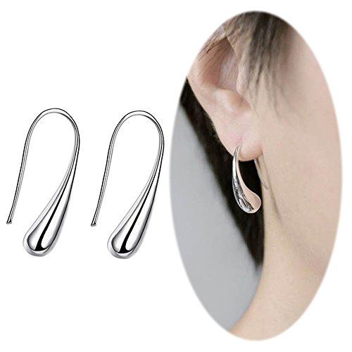 Teardrop Dangle Threader Drop Earrings Ear Studs Hoops Women Linear Tribal Geometric Charms Jewelry Silver Vine Pattern Earrings