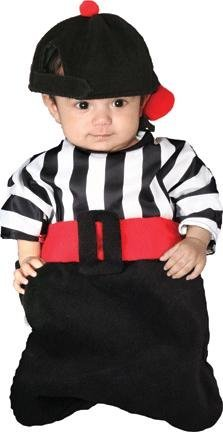 Baby Referee Halloween Costume (BUNTING FOUL W HAT)