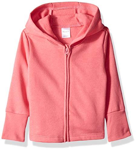 Hanes Ultimate Baby Zippin Fleece Hoodie, Pink, 18-24 Months