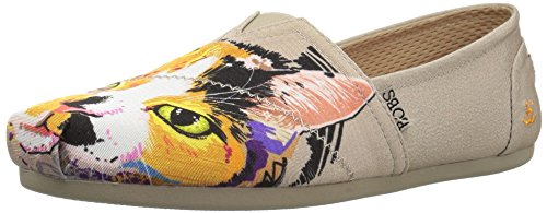 (Skechers BOBS Women's BOBS Plush-Breeds Ballet Flat, Taupe - Calico Cuddles, 7.5 M US)