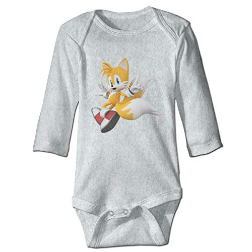 MDClothI Babys SONIC Hedgehog TAILS Classic Comfortable Long Sleeve Jumpsuit Outfits 2T ()