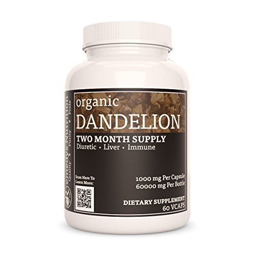 Dandelion Root Remedys Nutrition Capsules MEGA Strength Vegan 1000 mg / 60,000 mg per Bottle VCaps (Check Supplement Facts Box for a List of Organic Ingredients)