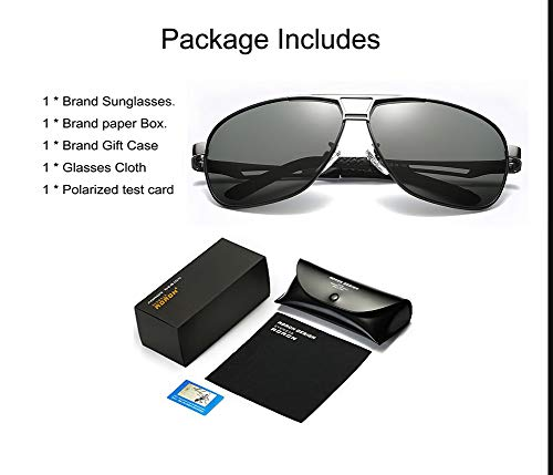 5ca586ce953 Amazon.com  Mens Polarized Driving Sunglasses for Men-AORON Outdoor Sports  Sunglasses with Case