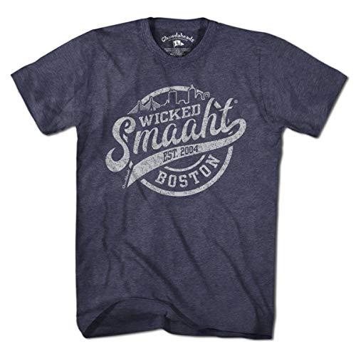 (Wicked Smaaht Boston Skyline T-Shirt by Chowdaheadz - 3XL)