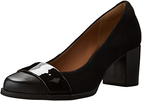 Image of CLARKS Women's Tarah Brae Dress Pump, Black Combi, 9 M US
