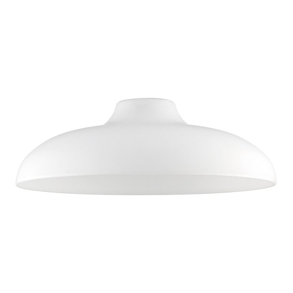 Satin White Glass Shade 14-Inch Wide 1.63-Fitter