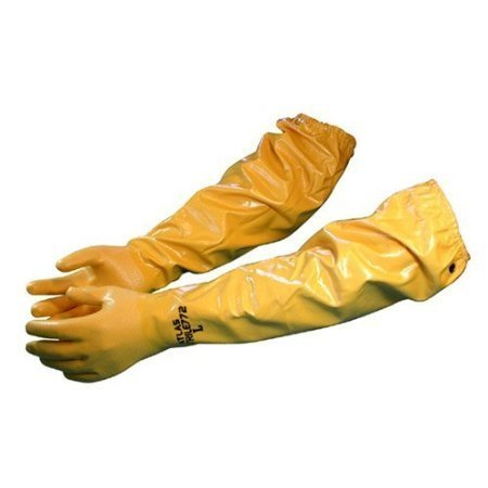 Atlas 772 X-Large 26-inch Nitrile Elbow Length Chemical Resistant Gloves - Yellow