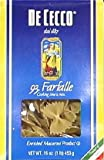 DeCecco Pasta Farfalle 16.0 OZ(Pack of 2)