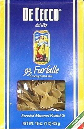 DeCecco Pasta Farfalle 16.0 OZ(Pack of 2)