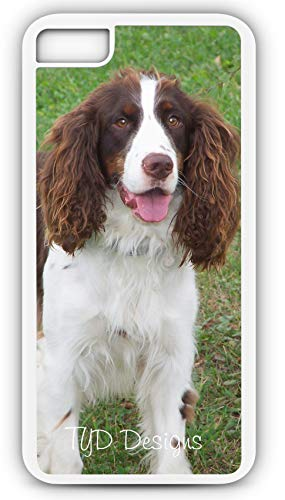 (iPhone 7 Case English Springer Spaniel Canine Pet Puppy Gun Dog Customizable by TYD Designs in White Plastic)
