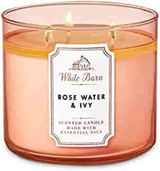Bath And Body Works White Rosewater Ivy Barn Scented 3 Wick Candle 411g Scented Candle With Essential Oil Buy Online At Best Price In Uae Amazon Ae