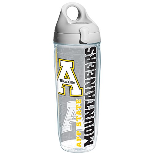 - Tervis Appalachian State College Pride Water Bottle with Grey Lid, 24 oz, Clear