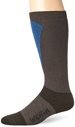 Wigwam Women's Snow Sirocco Midweight Wool Ski Sock, Charcoal, Medium