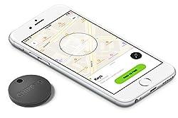 Chipolo Classic Smart Keyring Bluetooth Tracker, Phone Finder, Key Finder, Wallet Finder, Item Finder - Jet Black