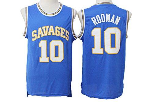 hot sale online 10ca3 963c3 Oklahoma Savages Dennis Rodman Mens Jersey Blue High School ...