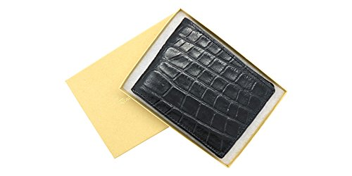 Black Genuine Alligator Millennium Bifold Wallet – Alligator Inside and Out RARE - Factory Direct - Gift Box – Slim Bllfold - Made in USA by Real Leather Creations FBA297 by Real Leather Creations (Image #6)