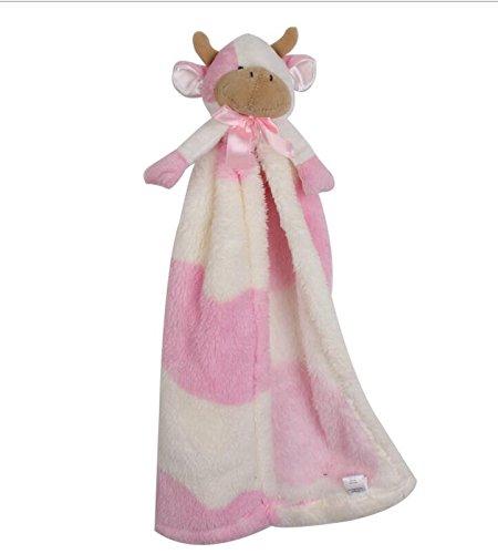Qsoleil Accesorios de Juguete para ni/ños Beb/é Vacas Manta de edred/ón Suave Toalla de Mano Juguete Infantil de Felpa Toalla de algod/ón Juguete de Aprendizaje Infantil Color : Pink
