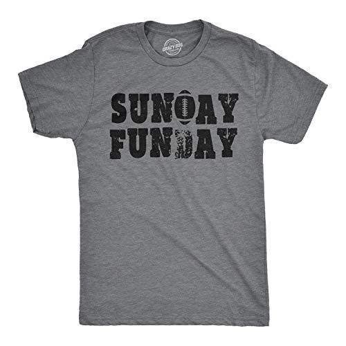 Mens Sunday Funday Vintage Football Sports Weekend Partying T Shirt (Dark Heather Grey) - XXL