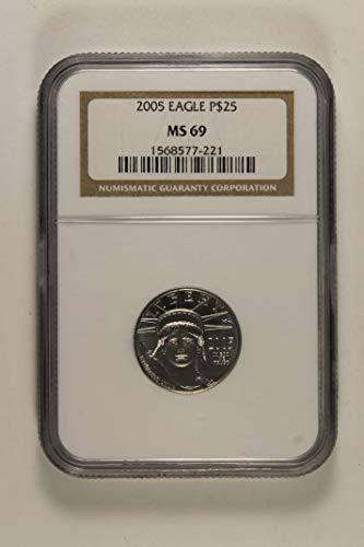 2005 Eagle $25 MS69 NGC ()