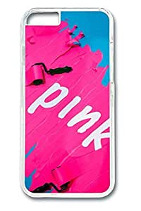 I Love Pink Cover Case Skin for iPhone 6 4.7 Inch Hard PC Clear