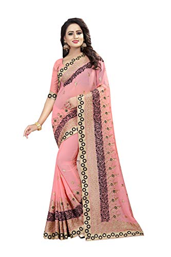 Da Facioun Femmes Indiennes De Saris Concepteur Partywear Sari Traditionnel Rose Ethnique.