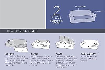 Maytex Collin Stretch 2-Piece Slipcover Loveseat