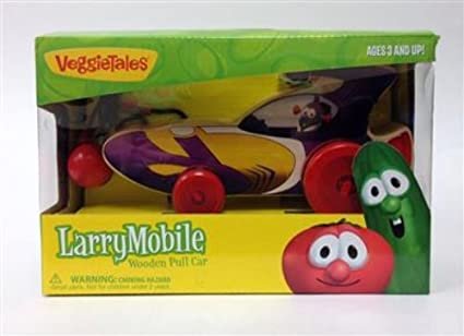 Amazon Com Veggie Tales Larry Boy Larry Mobile Wooden Pull Car