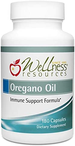 Oregano Oil Capsules – High Potency Wild Oregano Oil 55-65 Carvacrol, 100mg per Capsule 180 Capsules