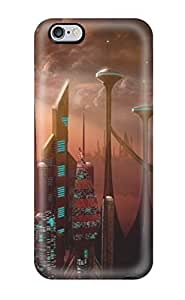 Premium [eNMXcqf964wJoMa]futuristic City Case For Iphone 6 Plus- Eco-friendly Packaging