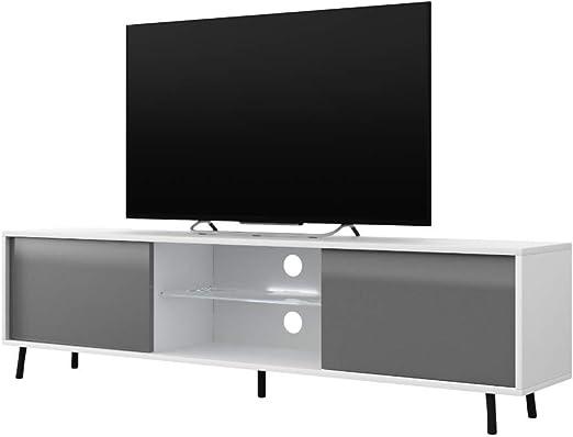Selsey Mueble para Televisor Blanco y Gris 140 x 40,5 x 31,3 cm: Amazon.es: Juguetes y juegos