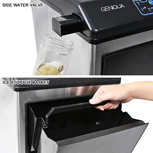 2 in 1 Water Dispenser w//Built in Ice Maker Portable Stainless Steel 33lbs//Day
