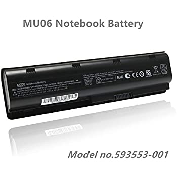 Amazon com: Replace with HP Battery Spare 593553-001 MU06
