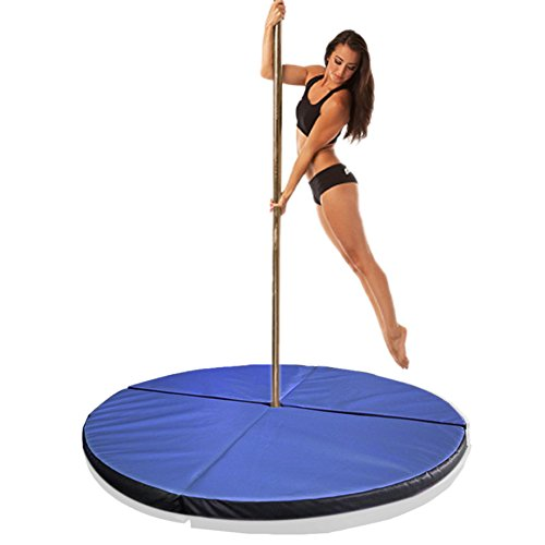 Greatgymats Folding Pole Dance Crash Mats, 2'',4'',5'' Thick Available,made of High Density EPE Foam Core (Blue, 5'x2'') by Greatgymats