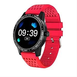 GGOII Reloj Inteligente Reloj Deportivo Rojo para Mujer, Reloj ...