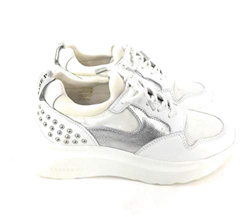 Cesare P. By Paciotti, Sneakers Donna, Bianco - Womens Shoes Cesare Paciotti