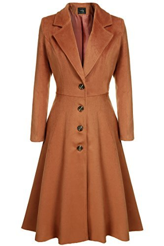 Kize Women Single Breasted Plus Size Long Trench Overcoat - 3X-Large - Dark Brown