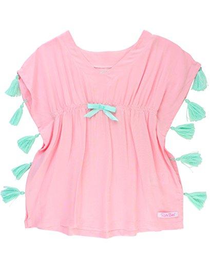RuffleButts Little Girls Pink Tassel Kaftan Swimsuit Cover-Up Tunic - 12-24m