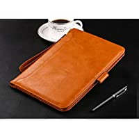 MOCA Smart Flip Cover case with Pencil Holder for New iPad 9.7 inch Brown