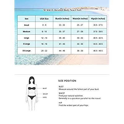 ACKKIA Women Two Piece Swimsuit Ruffle Flounce High Waisted Bikini Set: Clothing