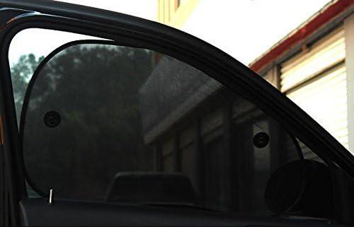 Mtef 車用サンシェード 車窓日よけ 日焼け止め UVカット 遮光 ブラック 2枚セット (68cm×38cm×2枚)